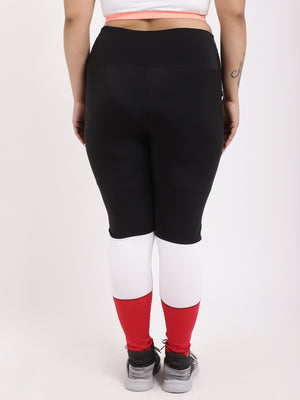 Red Black Tres Chic Leggings