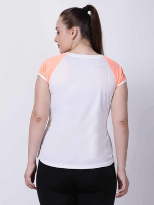 White Neo-Orange Feel Free Tee