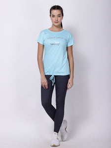Blue I-Sparkle Drawstring Tee