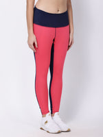 Coral Navy Stunner Bolt Leggings