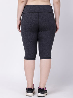 Grey Melange Oh-So-Smart Capri
