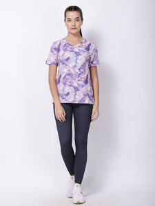 Lavender Print Picture Perfect Tee