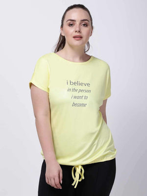 Lemon-Yellow Comfy Drawstring Tee