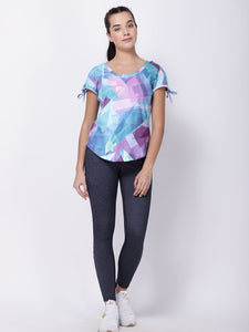 Multicolor Patchwork Printed Light Breeze Tee
