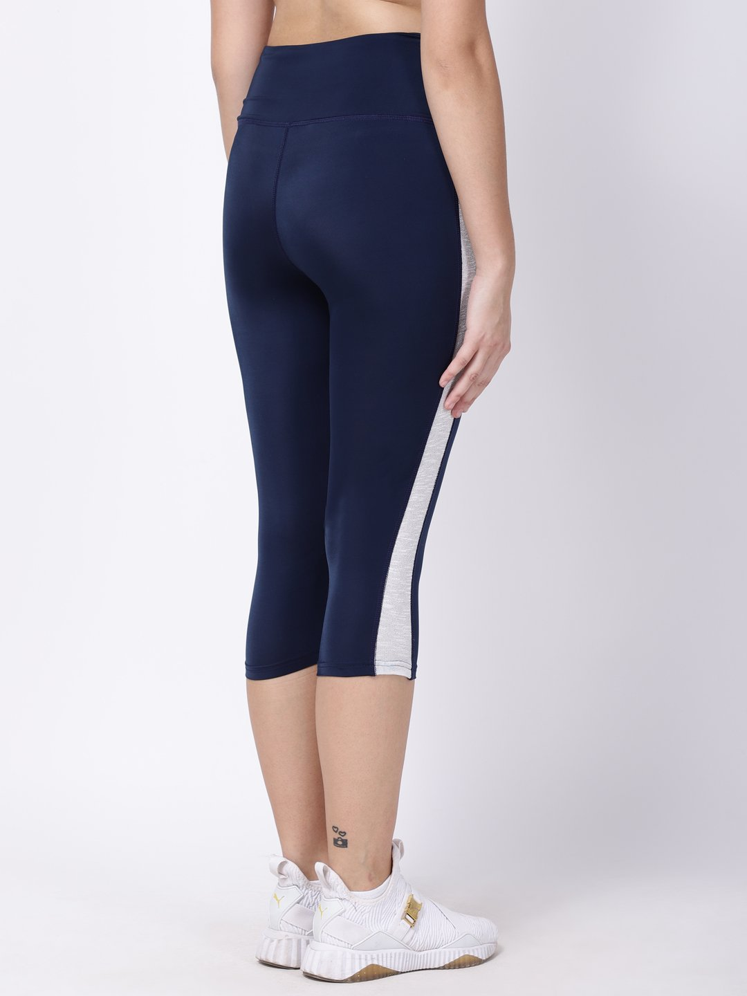 Navy Silver Band Summer Breeze Capri