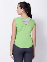Neo-Green Sleeveless Graceful Lady Tee