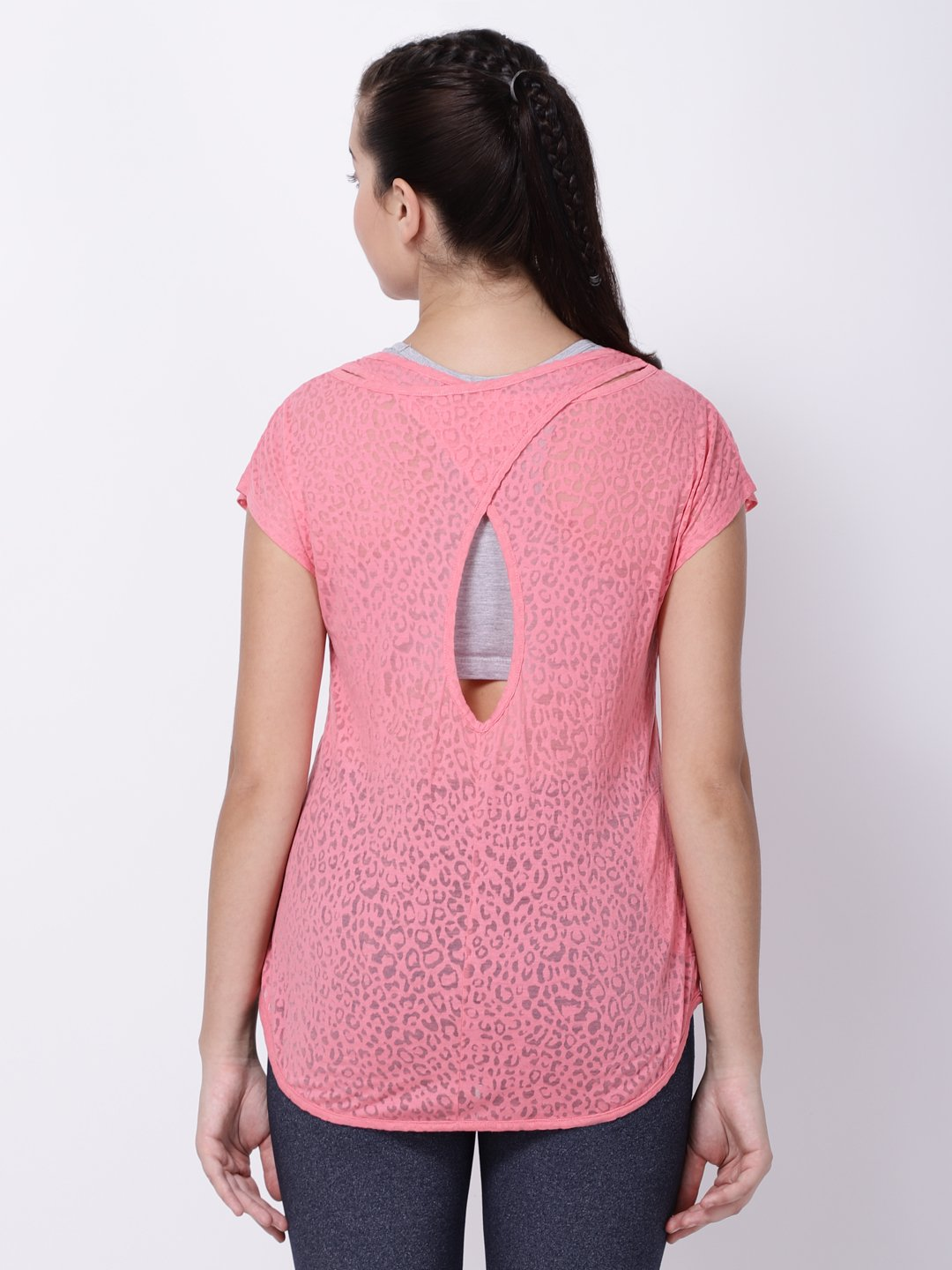 Pink Burnout Sexy Back Tee