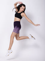 Purple Dip-Dye Free Bird Training Shorts