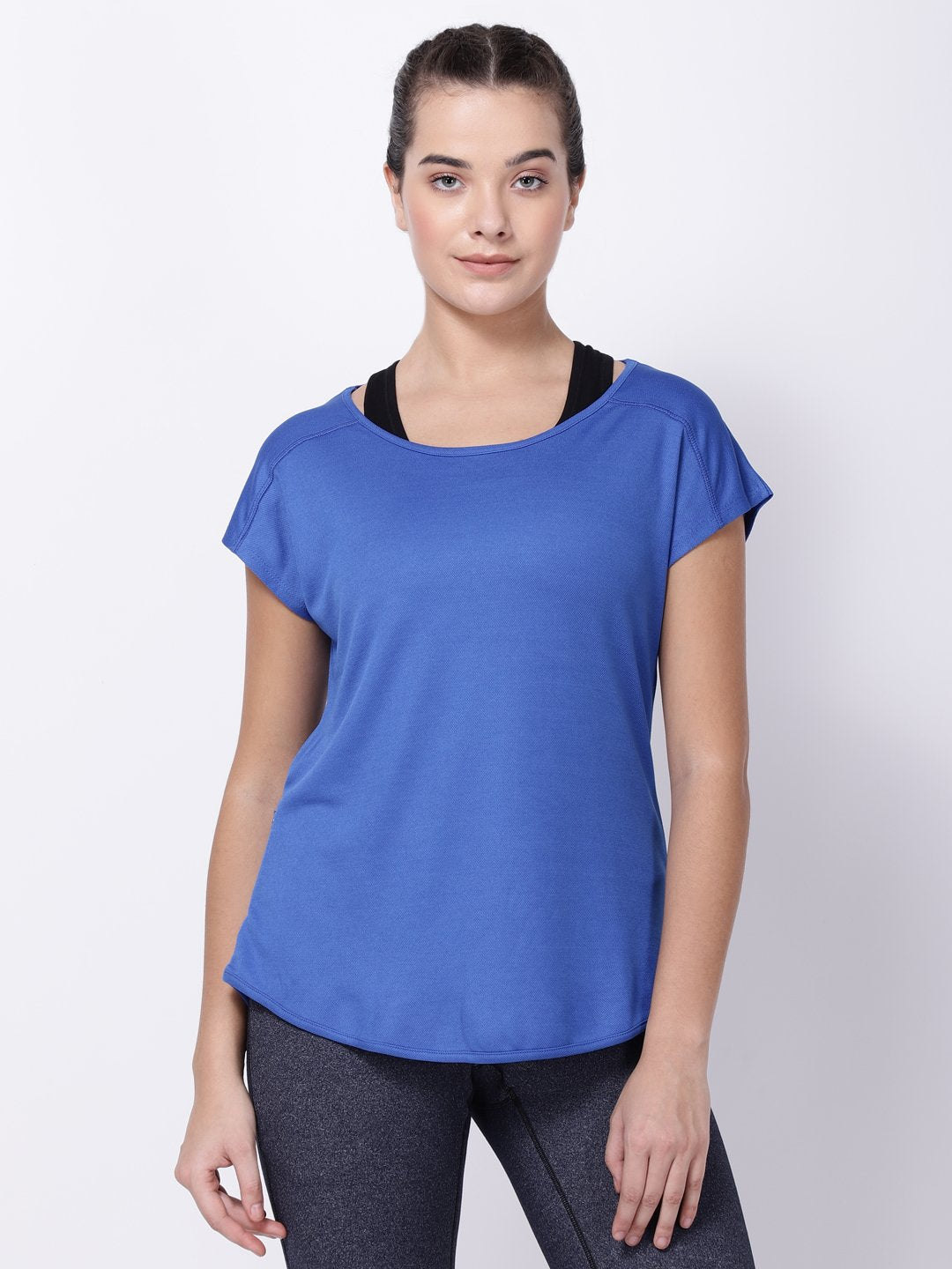Royal Blue Sexy Back Tee