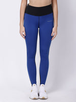 Royal-Blue Black Stunner Bolt Leggings