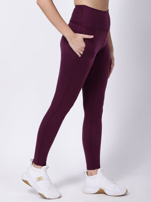 Wine Dainty Darling Leggings