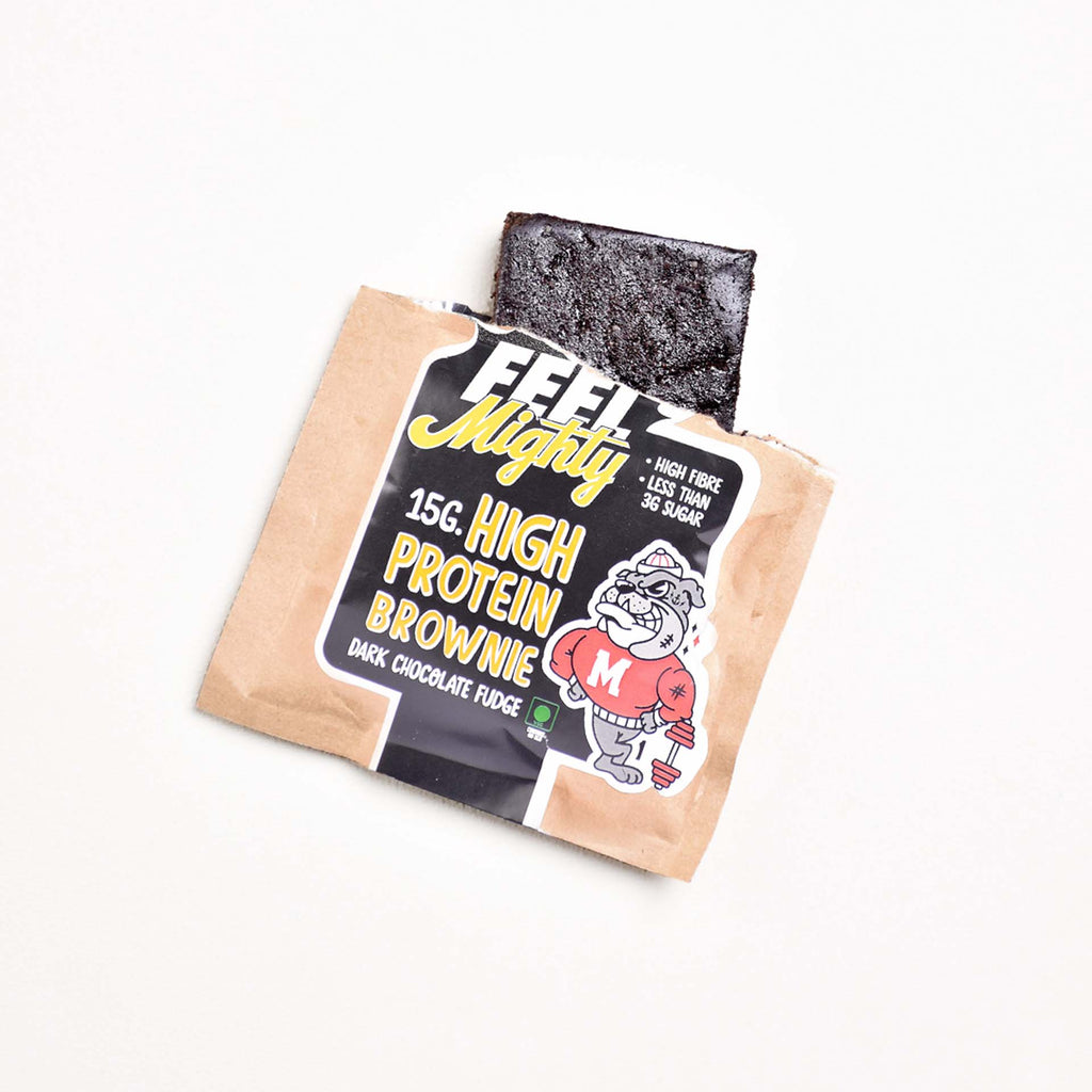 High Protein Assorted Box 2 | Dark Chocolate Fudge, Peanut Butter, Chocolate Walnut (Box of 5)| Feel Mighty - Feel Mighty