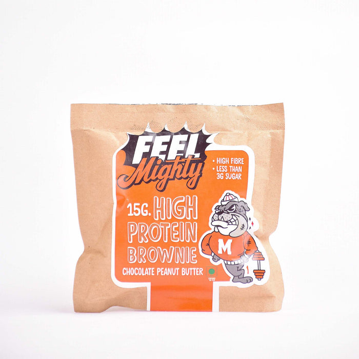 15G High Protein Brownie |Chocolate Peanut Butter (Single)| Feel Mighty - Feel Mighty