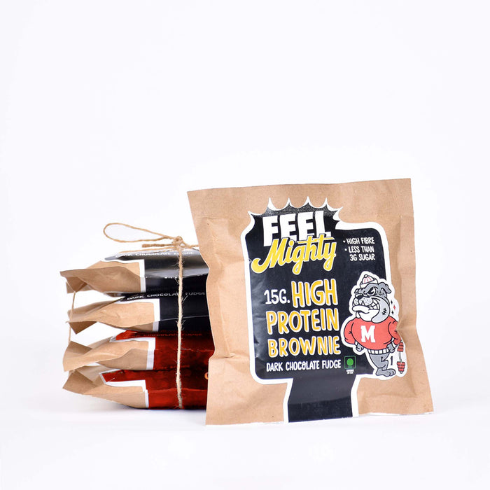 High Protein Assorted Box 3 | Dark Chocolate Fudge and Chocolate Walnut(Box of 5)| Feel Mighty - Feel Mighty