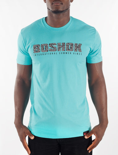 Turquoise International Summer Vibes Tee Front