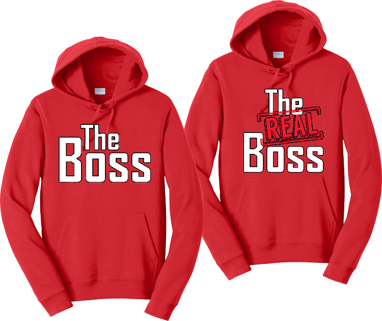 The Boss And The Real Boss Couples Hoodies Matching Sweatshirts