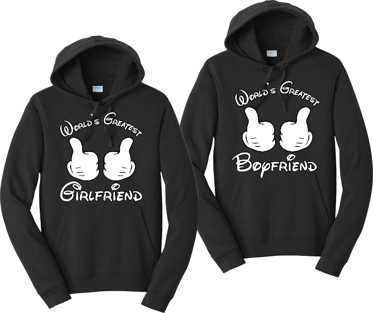Worlds Greatest Girlfriend and Boyfriend Couples Hoodies Matching Sweatshirts