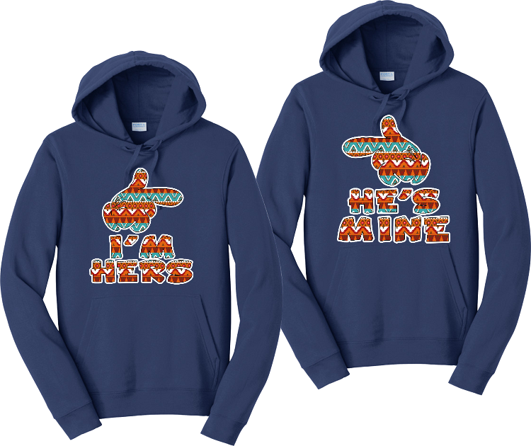 I'm Hers And He's Mine Hoodies Couples Matching Sweatshirts