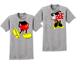 Mickey And Minnie Body Disney Couples Matching T-Shirts