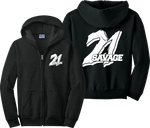 21 Savage Zip Up Hoodie ISSA Slaughter Gang Zipper Sweatshirt