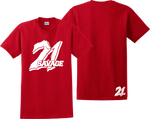 21 Savage T Shirt Supreme Savage Slaughter Gang Feel Like Pablo Tee Shirts