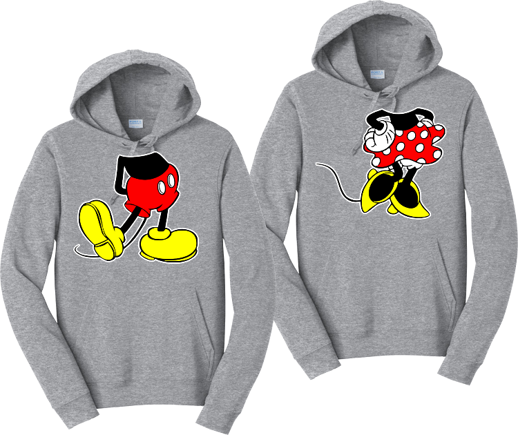 Mickey And Minnie body Couples Hoodies Matching Sweatshirts
