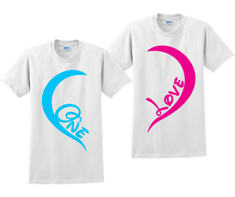 One Love Couples Matching His and Hers T-Shirts