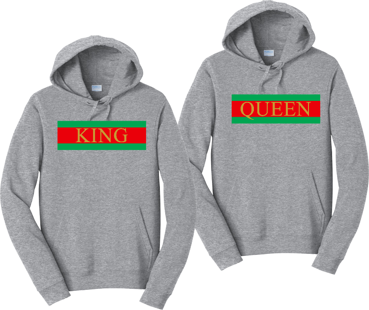 King and Queen Couples Matching Hoodie Sweatshirts