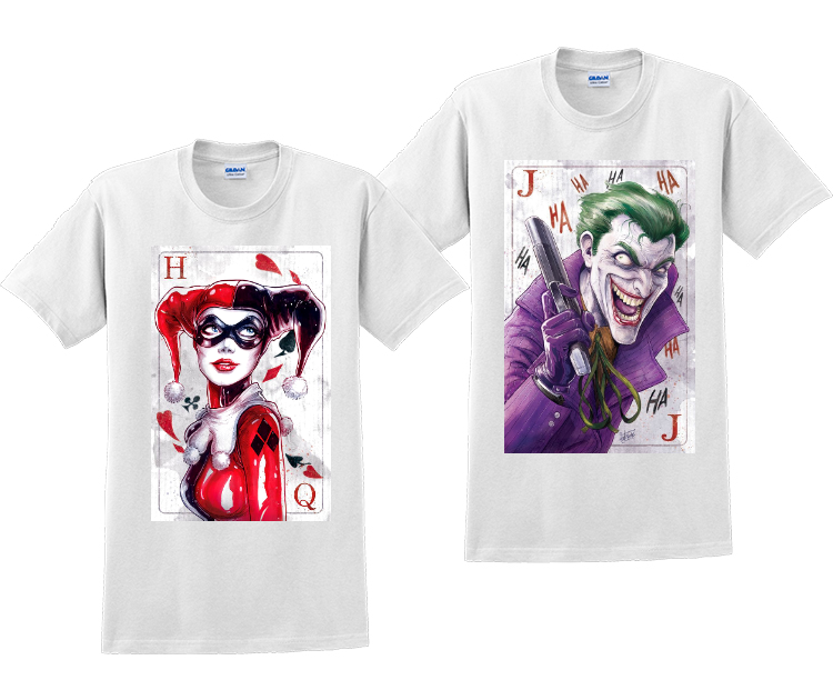 Joker And Harley Quinn Couples Matching T-Shirts