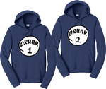 Drunk 1 Drunk 2 Hoodies Thing 1 & 2 Funny Matching Sweatshirts