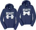 Beauty and Beast Couples Matching Hooded Sweatshirts