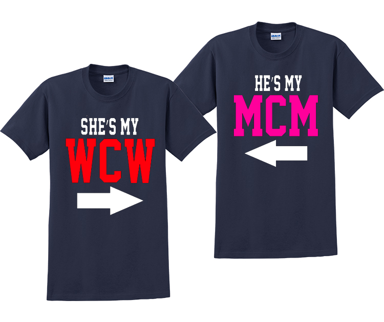 She's My WCW And He's My MCM Couples T-Shirts