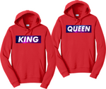 King And Queen Galaxy Couples Hoodies Matching Sweatshirts