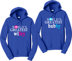 World Greatest Wifey/Hubby Couples Hoodies Matching Sweatshirts