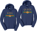 King And Queen Gucci logo Hoodies Couples Matching Sweatshirts