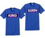 King and Queen Matching Couples Galaxy T-Shirts