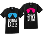 Tweedle Dee and Tweedle Dum Couples Matching T-Shirts