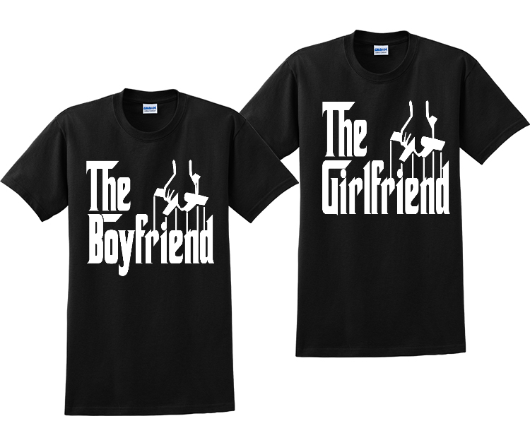 The Girlfriend and The Boyfriend God Father Couples Matching T-Shirts