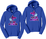 I'm Hers and He's Mine Galaxy Hoodies Couples Matching Sweatshirts