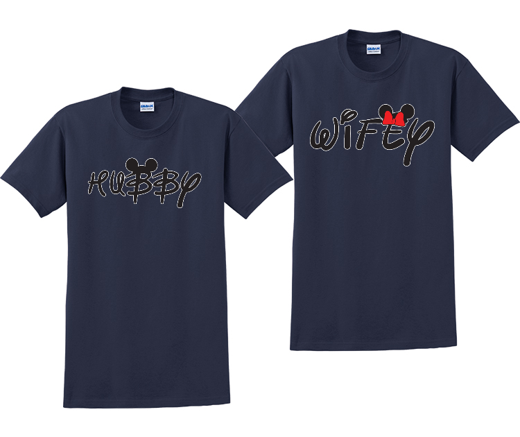 Hubby and Wifey Couples Matching Disney T-Shirts