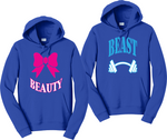 Beast And Beauty Hoodies Couples Matching Sweatshirts
