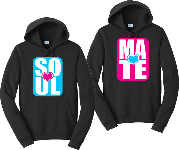 Soul Mate Couples Hoodies Matching Sweatshirts