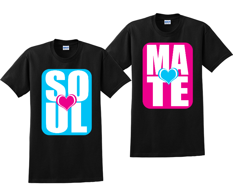 Soul and Mate Couples Matching T-Shirts