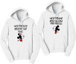 Hey Mickey And Hey Minnie Disney Hoodies Couples Matching Sweatshirts