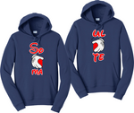 Soul Mate Mickey Hands Couples Hoodies Matching Sweatshirts