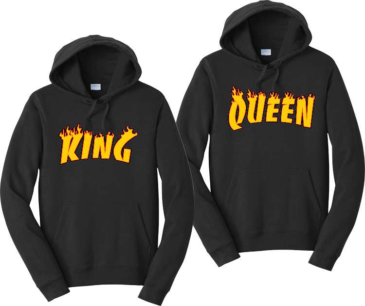King And Queen Thrasher Couples Hoodies Matching Sweatshirts