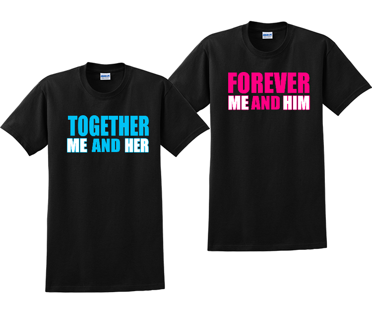 Together Forever Matching Couples T-Shirts