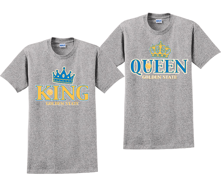 King And Queen Warriors Couples Matching T-Shirts