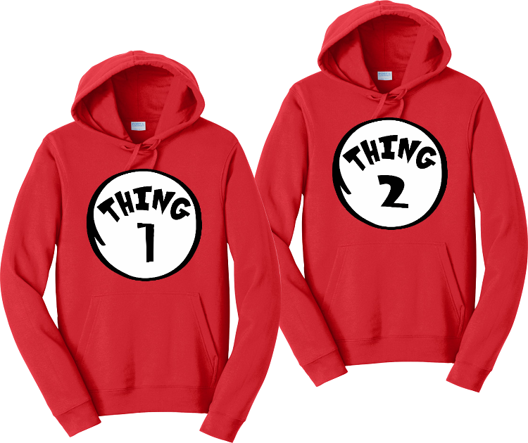 Thing 1 Thing 2 Matching Dr Sues Hoodies Matching Sweatshirts