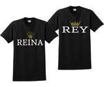 Rey Reina Couples His and Hers Matching T-Shirts